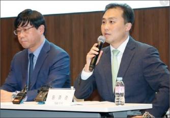 ▲ 원종준 라임자산운용 대표이사[오른쪽] 및 이종필 부사장