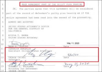 ▲ 조지 창은 지난 11일 유죄인정합의서에 서명하고, 합의위반시 제재를 받기로 했다.