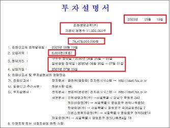 ▲ 진원생명과학은 지난 5월 19일 기명식 보통주 1150만주, 764억원 상당의 공모를 추진한다며 금융감독원에 투자설명서를 제출했다.