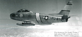 ▲ 한국전에서 소련 미그 15기와 공중전을 벌인 미공군 F 86 제트기