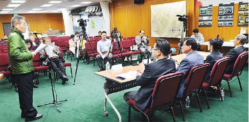 ▲ 한인회가 과거 실시한 공청회에 동포들의 관심이 저조했다.