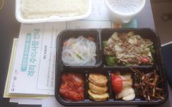 ▲ 한국 자가격리 시설에서 제공하는 도시락 식사