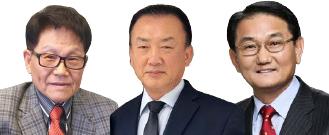 ▲ 후보로 물망에 오르는 인사들(왼쪽부터 박종태 회장, 크리스 김 회장, 박요한 장로)