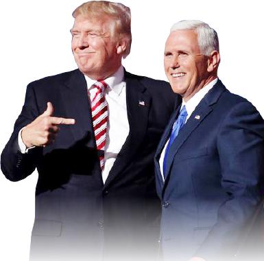 ▲ 공화당의 현직 대통령 트럼프와 부통령 펜스