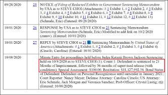 ▲ 워싱턴DC 연방법원은 지난 10월 8일, 천만달러 탈세혐의로 기소된 스티브 최씨에게 징역21개월, 만기출소뒤 36개월 보호관찰, 추징금 1113만달러를 선고하고, 내년 1월부터 복역을 시작하라고 판결했다.