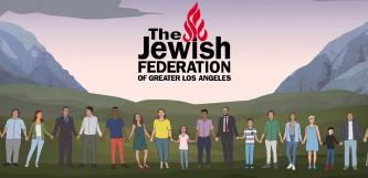 ▲ LA유태인 연맹의 단합을 도모하는 포스터