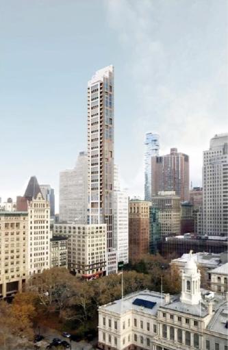 ▲ 한인부동산업자가 호텔개발을 추진중인 뉴욕 맨해튼 267 브로드웨이 조감도