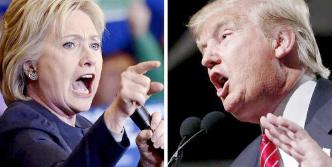 ▲ 힐러리클린턴(왼쪽)과 미 도널드트럼프 대통령