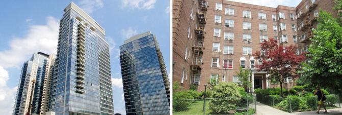 ▲(왼쪽) 혜민스님이 지난 2011년 A씨와 공동매입한 뉴욕 브루클린 콘도 ▲ 혜민스님이 지난 2006년 A씨와 공동매입한 뉴욕 퀸즈 잭슨하이츠의 코압