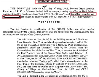 ▲ 혜민스님은 미국인 A씨와 함께 지난 2011년 5월말 브루클린의 콘도 1채를 약 61만달러에 매입한 것으로 확인됐다.
