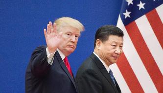 """▲ 트럼프는 대중국 무역 적자가 """"5000억 달러""""라고 근거 없는 발언으로 논란이 됐다."""
