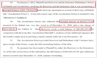 ▲ 기업은행의 피아이에이펀드 관리담당자인 곽승원씨는 뉴욕카운티법원에 제출한 자술서에서 지난해 12월 31일 현재 미납액이 8661만달러에 달한다고 밝혔다.