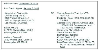 ▲ 최보성씨측이 당초 LA시 건축국에 제출했던 주상복합건물 신축허가서류