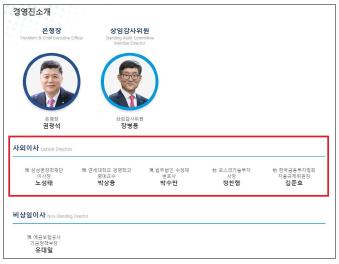 ▲ 우리은행 경영진