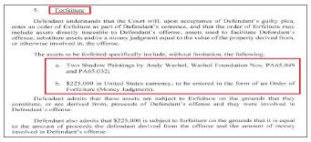 ▲ 브라이언 워시는 연방검찰이 앤디 워홀의 새도우 연작 2점과 22만 5천 달러를 압류하는데 동의했다.