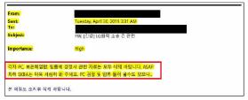 ▲ LG가 국제무역위원회 제소과정에서 제출한 SK의 2019년 4월 30일자 이메일