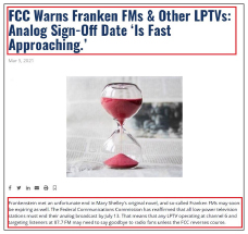 ▲ 라디오전문매체 '인사이드라디오닷컴'은 '프랑켄FM이라고 불리는 FM 87.7등 소수민족 FM 방송이 FCC로 부터 아날로그송출 중단통보를 받아 청취자들에게 이별을 고할 시간을 맞고 있다'고 보도했다.