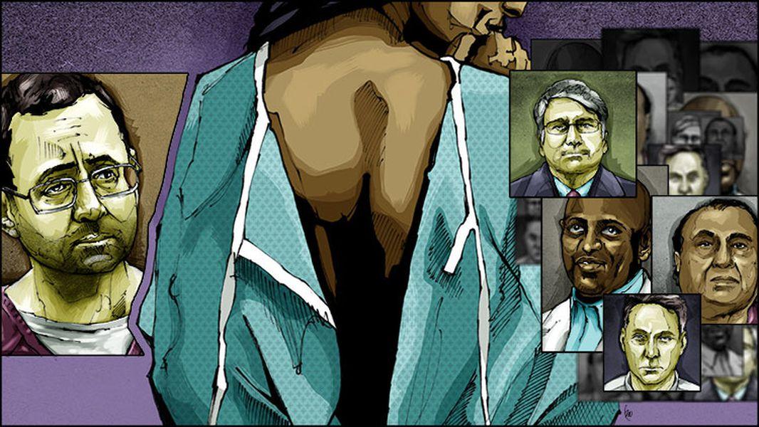 ▲ AJC의 의사들 성범죄 특집 시리즈를 보도한 삽화