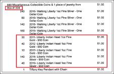 ▲ 대여금고 2개에 각각 3만달러씩의 현금을 보관한 것으로 밝혀진 한인 곽모씨는 1304번금고에 금화와 은화등 동전 880개를 보관했던 것으로 확인됐다.