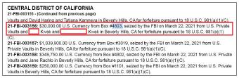 ▲ 1304번 대여금고의 주인인 한인 곽모씨는 4803번 대여금고에도 현금 3만달러를 보관했던 것으로 드러났다.
