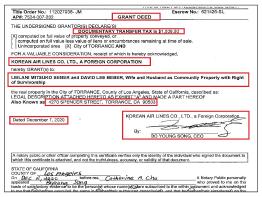 ▲ 대한항공은 지난해 12월 8일 토랜스의 '4270 스펜서스트릿'주택을 91만 5천달러에 매도한 것으로 확인됐다.