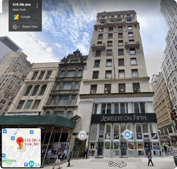 ▲세아상역 또는 김웅기 오너회장 일가가 매입한 것으로 추정되는 맨해튼 빌딩, 5애비뉴와 47스트릿과 만나는 곳에 있으며, 48스트릿 락펠러센터와 마주보고 있다.