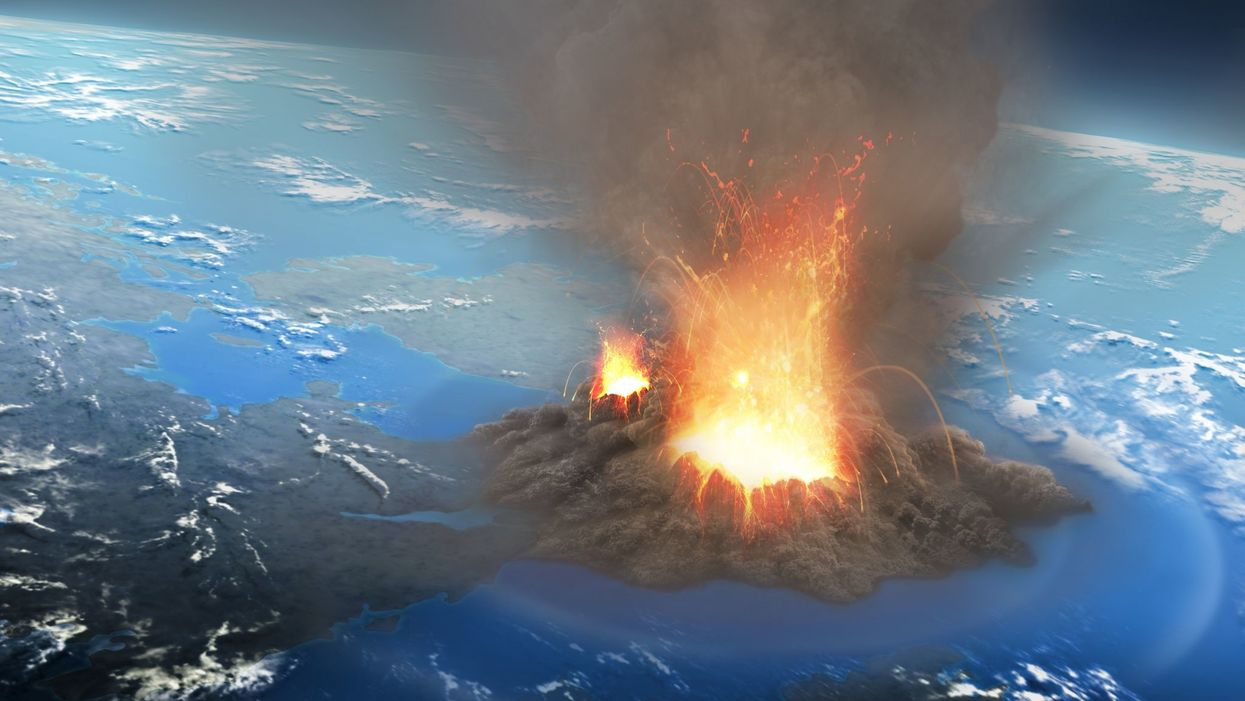 ▲ 옐로스톤 폭발 가상 장면