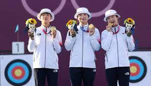 ▲ 한국 여자 양궁은 올림픽 9연패 위업을 달성했다.