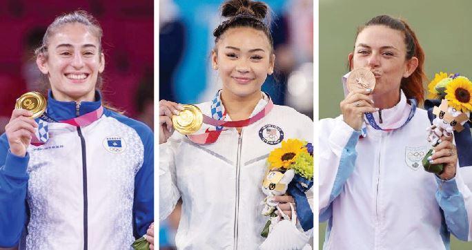 ▲ '작은 고추가 맵다' 고 보여준 선수들(왼쪽부터) 라시토프(우즈베키스탄), 수니사 리(미국), 페릴리(산마리노)