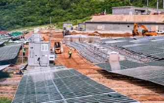 ▲ 괌의 망갈리오 태양광발전소 건설현장
